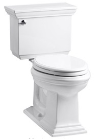 KOHLER K-3819-0 Memoirs Comfort Height Two-Piece Elongated 1.6 gpf Toilet