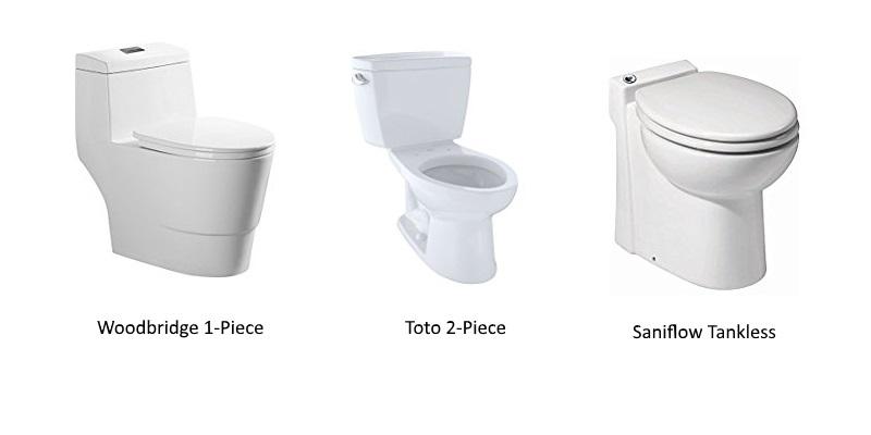 toilet styles