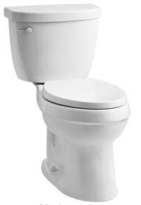 KOHLER K-3609-0 Cimarron Comfort Height Elongated 1.28 gpf Toilet